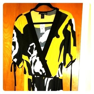 Geo print high low dress